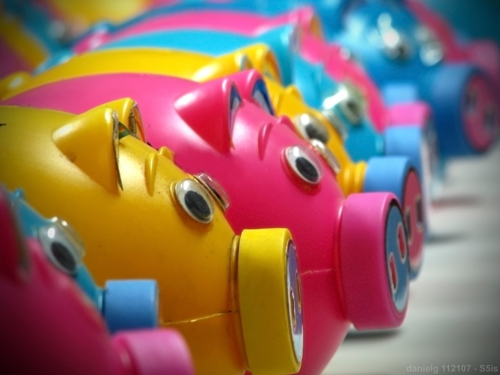 Piggy Bank Colorful